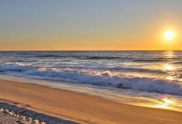 Beach in Jersey shore